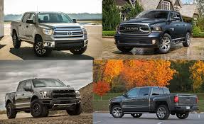Truckin': Every Full-Size Pickup Truck Ranked From Worst To Best ... Compactmidsize Pickup 2012 Best In Class Truck Trend Magazine Kayak Rack For Bed Roof How To Build A 2 Kayaks On Top 6 Fullsize Trucks 62017 Engync Pinterest Chevy Tahoe Vs Ford Expedition L Midway Auto Dealerships Kearney Ne Monster Truck Coloring Pages Of Trucks Best For Ribsvigyapan The 2016 Ram 1500 Takes On 3 Rivals In 2018 Nissan Titan Overview Firstever F150 Diesel Offers Bestinclass Torque Towing Used Small Explore Courier And More Colorado Toyota Tacoma Frontier Midsize