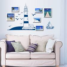Pop Nautical Boat Seagull Lighthouse Sea Ocean Wall Sticker Decals Decor Mural