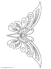 Download Free Printable Butterfly Coloring Pages