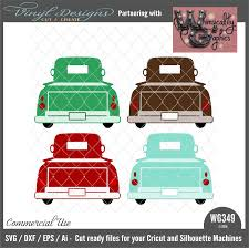 WG349 Antique Truck Tailgate Up | Vinyl Designs Cut And Create
