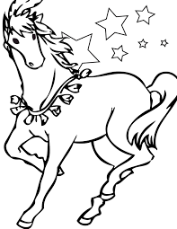 Horse Printable Coloring Pages Free For Kids Drawing