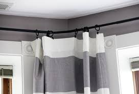 charming grey and white striped curtains and diy extra long