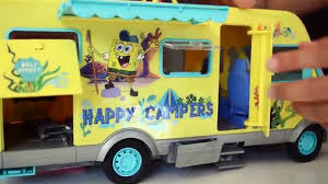 Caillou In The Bathtub Ytp by Spongebob Squarepants Camper Van Playset Toy Review Toys Andme