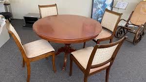sitzgruppe runder tisch ausziehbar und 4 stühle