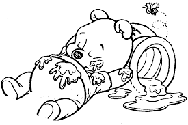 Disney Baby Winnie The Pooh by Baby Pooh Bear Coloring Pages Wecoloringpage