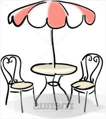 Patio Table And Chairs With Umbrella Buy Cafe Red White Clipart