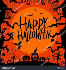 Free Halloween Ecards With Photos by Set Art Cards Happy Halloweendesign Template Stock Vector