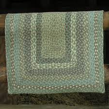 Green Jute Rug by Braided Jute Rug Sea Spray