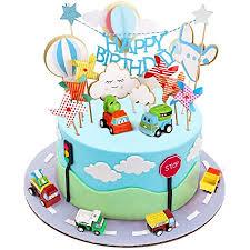 joyoldelf cake toppers 1 geburtstag junge auto