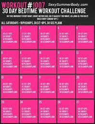 Bedtime workout challenge iFit Pinterest