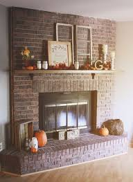 Paint Colors Living Room Red Brick Fireplace by Best 25 Brick Fireplace Mantles Ideas On Pinterest Brick