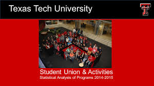 Student Union & Activities Statistical Analysis Of Programs Texas ... Student Union Acvities Ttu Suicide Prevention Week Events Rise Dinner And A Good Book Barnes Noble Opening New Concept Store 25 Unique Texas Tech University Ideas On Pinterest Dorm Room Bn At Tech Bnxastech Twitter 40 Best University Images 432 Red Raiders Childrens Mason Davis The Rise Of Storm Makers Raider Welcome Nite Youtube