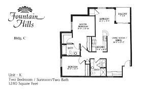 Unit K 2 Bedroom Bathroom 10x11 Sunroom 7x8 Balcony