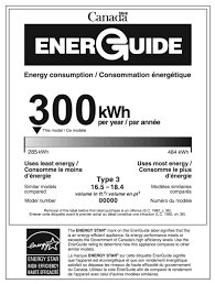 EnerGuide Label For A Refrigerator With An ENERGY STAR Qualification
