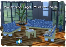livingroom mesh by chalipo at all 4 sims sims 4 updates