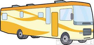 Yellow Motor Home Class A Clipart