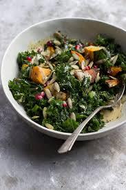 Japanese Pumpkin Salad Recipe by Kale Salad With Kabocha Squash Maple Dijon Dressing With Food Love