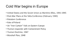 Iron Curtain Cold War Apush by 100 Iron Curtain Cold War Chapter 31 Western Society And