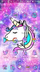 Galaxy Unicorn Shiny Glitter Theme Screenshot 7
