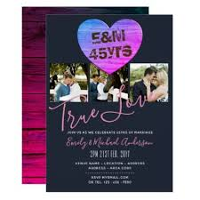 45th Wedding Anniversary ADD PHOTOS x 3 Rustic Card chic design