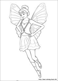 Barbie Mariposa Coloring Pages On Book
