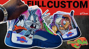 100 Space Jam Foams Full Custom Retro Jordan 12s By Sierato