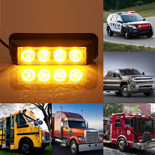 Fitur 4x 12 24v 4led Amber Strobe Flashing Recovery Lightbar Truck ... 4led Light Bar Beacon Vehicle Grill Strobe Emergency Warning Flash Umbrella Inspirational High Power 1224v 20led Super Bright Caution Hazard Safety Bars 55 Inch 1 4m 104 Led Castaleca Car Truck Trailer Side Marker Strobe Lights Amber 12 Led Kacowpper 6 Nwhosale New 2 X 48 96led Flashing Lights Buyers 8892000 Set Of 5 9 Marker With