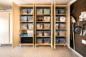 Home Depot Plastic Garage Storage Cabinets by Garage Storage Cabinets Ideas Lowes Canada Plastic