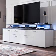 tv lowboard mood in weiß und design grau fernsehtisch 180 x 66 cm tv in komforthöhe
