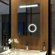 details zu badspiegel led mit beleuchtung steckdose wandspiegel 50x70cm badezimmerspiegel