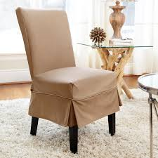 Ikea Dining Room Chair Covers by Dining Room Brown Fabric Dining Room Chair Covers With Half Skirt