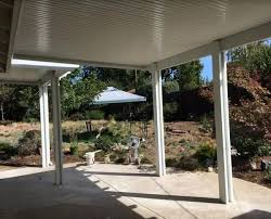 patio covers lincoln ca two side wall and one side roof attached patio cover fair oak ca
