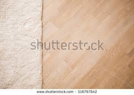 Laminate Parquete Floor Light Wooden Texture Beige Soft Carpet Warm Interior Design