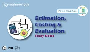 Sinking Fund Formula Pdf by Estimation Costing U0026 Evaluation Notes Pdf Hyp Series