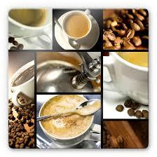 glasbild kaffee vielfalt