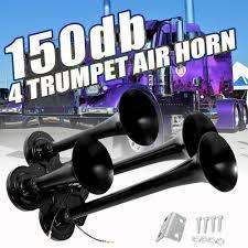 100 Train Horn For Trucks 150db 4Trumpet Air Truck Peterbilt Kenworth