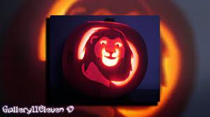 Tinkerbell Pumpkin Designs by Mufasa Lion King Pumpkin Art Youtube