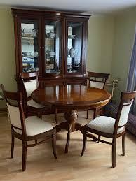 italienische stilmöbel wohn esszimmer vitrine sideboard tisch stühle antik furn