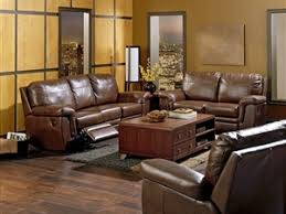 Brunswick Palliser Leather Reclining Sofa Town and Country