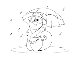 Raining Worm Coloring Page