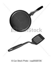 spatule cuisine plastique spatule cuisine noir moule plastique isolé plastique