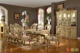 Formal Dining Room Tables Brilliant Best Antique White Sets Intended For Traditional