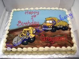 100 Truck Birthday Cakes Dump Cake Custom Decor On A 12 Sheet Cake Flickr