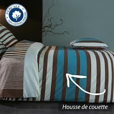 housse de couette burberry housse de couette 280x240 cm percale pur coton stripe bleu