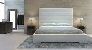 King Platform Bed With Fabric Headboard by Winsome White Cushion Headboard 55 White Upholstered Headboard
