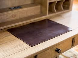 Leather Desk Blotters Uk by Leather Table Mat Chromexcel Brown Leather Desk Mat Custom