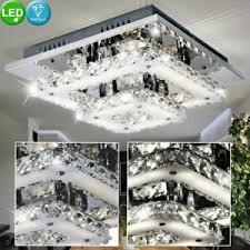 details zu luxus led decken le 18watt wohnzimmer beleuchtung glas kristall leuchte chrom