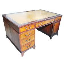 Antique English Mahogany Partners Desk EBTH