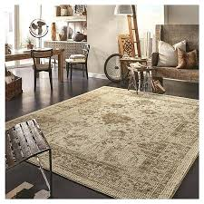 Rustic Area Rugs Vintage Distressed Rug Tan The Industrial Lowes