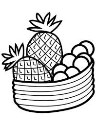 Pineapples Coloring Pages